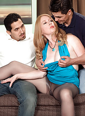 Its Heathers First Time, And Shes Fucking Two Cocks!