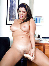 Latin MILF gets kinky at the office