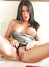 Anilos temptress kendra secrets spreads her legs wide open so she can thrust the rabbit deep within