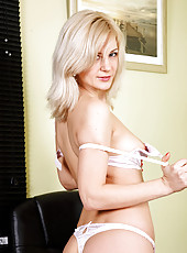Alluring Anilos Laurita is a naughty office woman who loves to have a good time while her boss is away