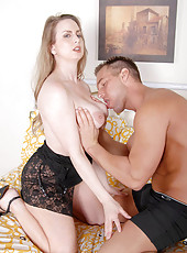Red haired cougar Midori gets fucked in multiple positions and blasted with cum