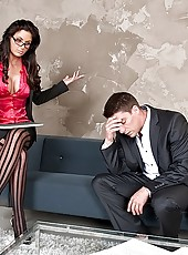 Phoenix marie power fucked in her black stockings hot anal sex