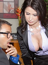 Sexy eva karrera gets her big tits creamed after gettting fucked in the office in these hot big tits pics