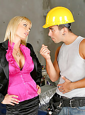 Super hot sexy construction worker babe get pounded hard on the construction site in these amazing big tits pics