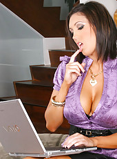 Hot big tits dylan sucks a hard cock in the office in these bangin high class fucking pics