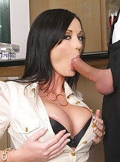 This big tits babe melissa gets pounded hard in the office then takes a hard cock in her amazing juicy ass