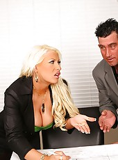 Super blonde sandy gets pounded in the office in exchange for a hot fucking business deal in these amazing pics