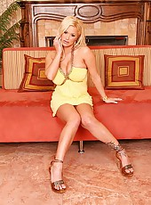 Amazing shyla in her yellow dress shows off her huge tits then get s fucked hard in the ass in this office sex pics and movie