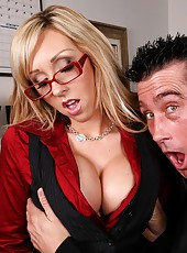 Super hot jessica does some overtime on the office table