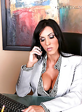 Chk out this super hot brunette get fucked in the office