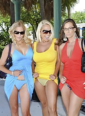 3 super hot milfs celebrate leaving their husbands in these horny milf pussy fucking finger licking sex pics