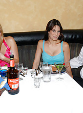 These 3 milfs are giving their waiter a bigger tip than hes used to in these hot pics