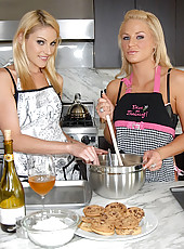 Watch 2 smoking hot ass gstring sexy milfs fuck eachother in the kitchen in these hot fuck pics