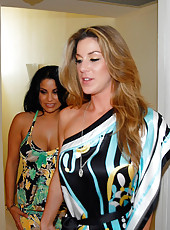 Sexyt brunette sophia lomeli meets up with her milf gf for some hot lesbo fucking times
