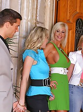 2 super hot amzing milfs and kylie met up with a hot stud for a 4some in these hot pics