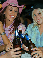 Cowgirl babes show that they can have dirty fun too