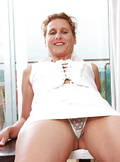 44 year old Inge from AllOver30 displaying her very meaty pussy