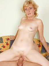 46 year old Leny from AllOver30 enjoying a large and rock solid cock