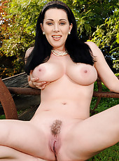 38 year old hottie RayVeness from AllOver30 spreads at the farm
