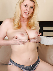 Lacy Venice in sexy lingerie shows off her 51 year old mature body