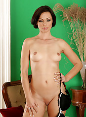 Cameron from AllOver30 flaunts her sleek and hot body in here