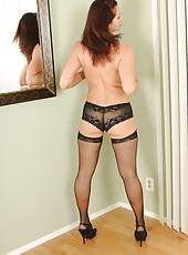 39 year old Xena from AllOver30 spreads her lacy legs wide in for you
