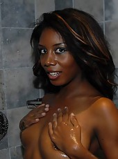 My horny ebony wife got caught on my video cam in these hot candic pics