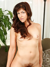 Elegant MILF Andie from AllOver 30 spreads her tight furry pussy