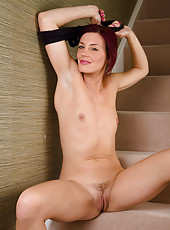 38 year old Sofia stretches more than her muscles after her run