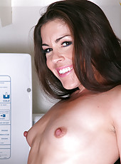 Brunette MILF Annabelle Genovisi showing off some ver perky nipples