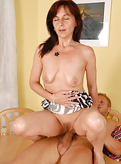 46 year old Jenny H from AllOver30 sampling some hard younger cock