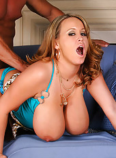 Briannas big natural titties serve as pool floaters then gets her hot wet pussy fucked hard in these awesome pics