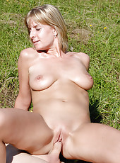 Blonde MILF Linda S gets her tight mature pussy stuffed with cock