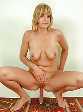 30 year old Linda S from All Over 30 stuffing a big dildo into her ass