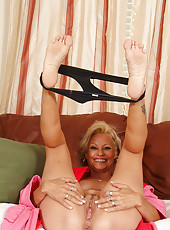 Horny grandmother from AllOver30 strips after the housework is done