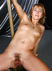 Kate M. plays a hairy stripper and puts on a great hairy show