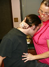 Sexy over 40 mom Stacie Starr loves making Joeys cock explode buckets of jizz. When he gets in trouble at school this perverted milf punishes him by milking his throbbing boner.