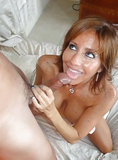 MILF Tara Holiday Big Cock Handjob