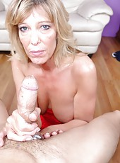 Big Cock Handjob with MILF