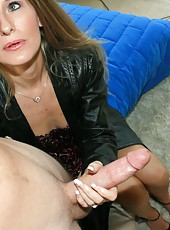 Sara James milf handjob with bog cock Billy at clubtug