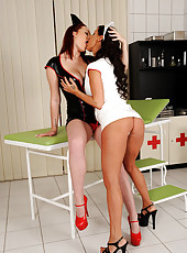 Big busted nurses get real naughty
