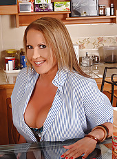 Baking with very bountiful breasts