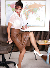 Mature in Skirt