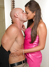 Sexy brunette babe Allie Haze loves getting fucked by big cocked married men.