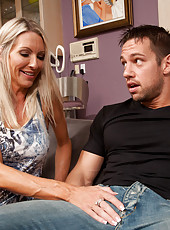 Gorgeous busty MILF Emma Starr has hot sex with big cocked friend of her son