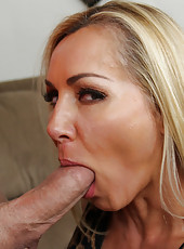 Busty blonde MILF loves to fuck her son