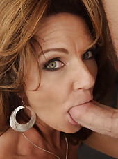 Busty hot milf Deauxma is horny after her divorce so for mothers day she gets to swallow her son