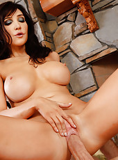 Hot cougar Diana Prince seduces younger stud to fuck her tight pussy.