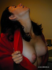Nice brunette housewife shows her body