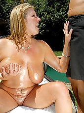 Check out amazing big titty charlie gets nailed by the pool in these hot smokin bikini fucking pics